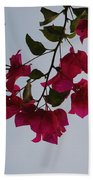 Flowers In The Sky Beach Towel