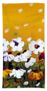 Flowers In The Sunset  Beach Towel