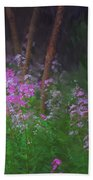 Flowers In The Woods Beach Towel