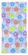 Flowers Beach Towel by Louisa Knight