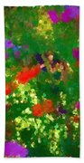 Flowers On Display As Abstract Art Beach Towel