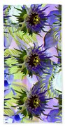 Flowers On The Wall Beach Towel