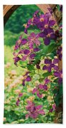 Flowers On Vine  Beach Towel