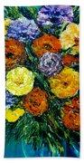 Flowers Painting #191 Beach Towel