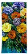 Flowers Painting #191 Beach Sheet