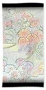 Flowers Painting  Beach Towel