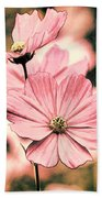 Flowers - Retro Cosmos Beach Towel
