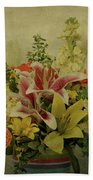 Flowers Beach Towel by Sandy Keeton