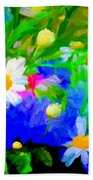 Flowers Two Beach Towel