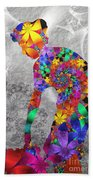 Flowerwoman Beach Towel