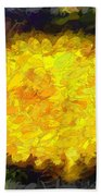 Flowery Acceptance In Abstract Beach Towel