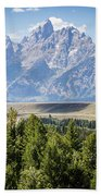 Flowing In The Forest Beach Towel