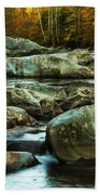 Flowing River On Greenbrier Cove Road Smoky Mountains National P Beach Towel