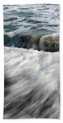 Flowing Sea Waves Beach Towel