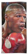 Floyd Mayweather Jr Beach Towel by Ylli Haruni