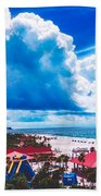 Fluffy Clouds Over Clearwater Beach Beach Towel