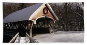 Flume Covered Bridge - Lincoln New Hampshire Usa Beach Towel