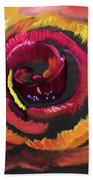 Fluorescent Rose Beach Towel