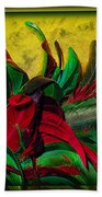 Flurry Of Feathers Beach Towel