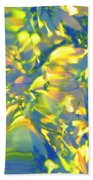 Fluttering Of Color Beach Towel