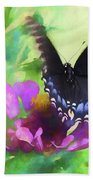 Fluttering Wings Of The Butterfly Beach Towel