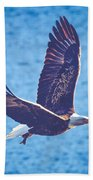 Fly By Eagle. 2 Of 3 Beach Towel