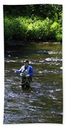 Fly Fishing In New York Beach Towel