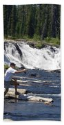 Fly Fishing The Lewis River Beach Towel