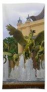 Flying Horses Of Atlantis Beach Towel