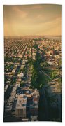Flying Over Jersey City Beach Towel