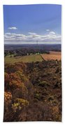 Flying Over New Milford Beach Towel