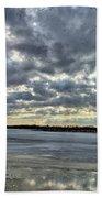 Flying Through Sun Rays 4 Beach Towel