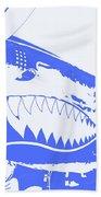 Flying Tiger Blue Beach Towel