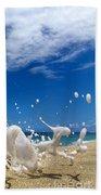 Foam Burst -  Triptych - 3 Of 3 Beach Towel