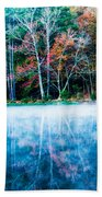 Fog On The Lake Beach Towel