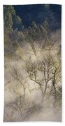 Foggy Morning In Sandy River Valley Beach Towel