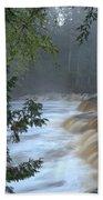 Foggy Morning On Lower Tahquamenon Falls Beach Towel