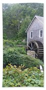 Foggy Stony Brook Grist Mill Cape Cod Beach Towel