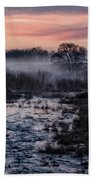 Foggy Sunrise At Chasewater Beach Towel