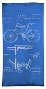 Folding Bycycle Patent Drawing 1d Beach Towel