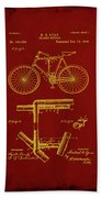 Folding Bycycle Patent Drawing 1f Beach Towel