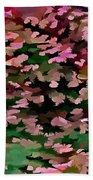 Foliage Abstract In Pink, Peach And Green Beach Towel