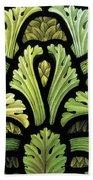 Foliage Pattern Beach Towel