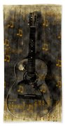 Folk Guitar Beach Towel