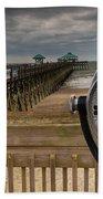 Folly Beach Pier Beach Towel