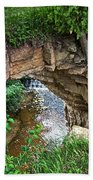 Fonferek Glen Rock Bridge And Falls Beach Towel
