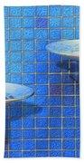 Fontaine Bleue Beach Towel