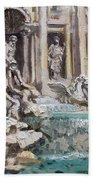 Fontana Di Trevi Rome Beach Towel