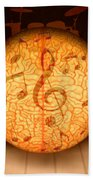 Food For Brain And Peace For Soul Beach Towel