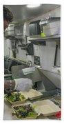 Food Truck Worker Beach Sheet
